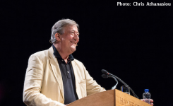 Stephen Fry at Hay Festival